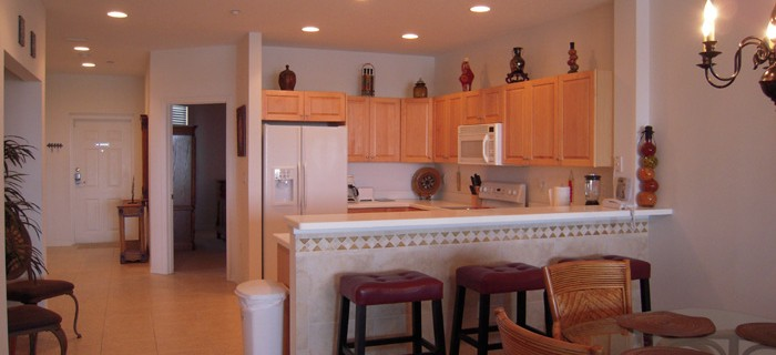 Large Kitchen with Bar Stools